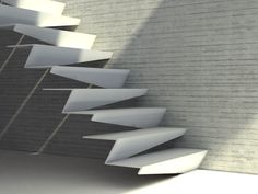Rendered inspiration: delicate white steps.