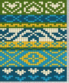 Tricksy Knitter Charts: folk scarf motif2 by marti3000