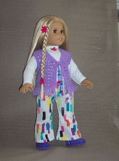 American Girl Doll Julie  Hippie Style from by DollClothesandStuff