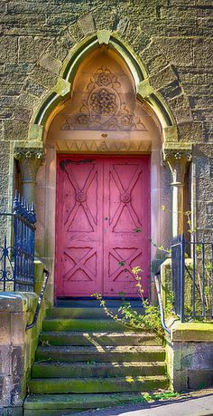 Beautiful pink door