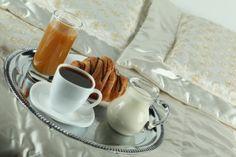 Feelings, Tray with Breakfast, Dessert, Coffee Beans