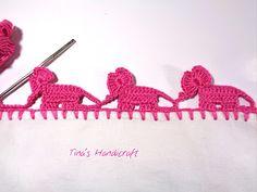 Tina's handicraft : crochet trimmings baby elephant