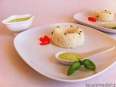 Rice with creamy pesto