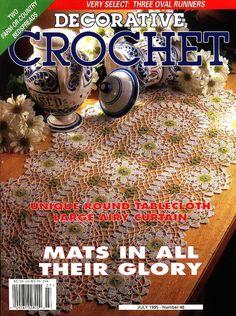 Decorative Crochet Magazines 32 - Gitte Andersen - Álbuns da web do Picasa Crochet Mat, Crochet Cross, Thread Crochet, Filet Crochet, Irish Crochet, Crochet Doilies, Country Bedspreads, Magazine Crochet, Crochet Instructions