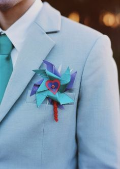 Have a groom or are a groom looking to add a pop of color to your big day? We have a rainbow of gorgeous ideas for ya.