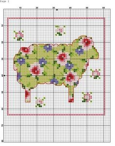 sheep.cross stitch