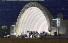 CNE Canadian National Exhibition bandshell, Toronto, Ontario, Canada, postcard
