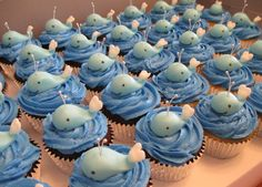 Whale Cupcakes~                        By cakes we bake, blue