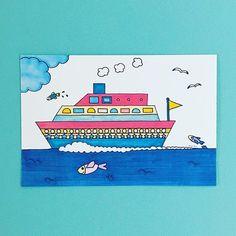 【mariezgo】さんのInstagramをピンしています。 《Tokyo bay cruise ⛴⚓️⛵️ #船 #ship #魚 #さかな #fish #東京湾 #tokyobay #海 #ocean #イラスト #illust #illustration  #絵 #絵画 #ドローイング #drawning #ペインティング #painting #アート #art #コピックペン #copic #copicpen #イラストレーター #マリーズ #mariezgo #mariez作品》