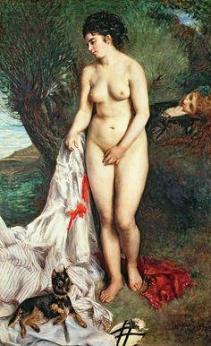 Pierre-Auguste Renoir, Baigneuse-au-griffon, 1870