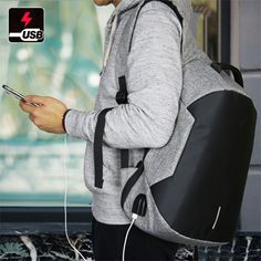 Modernist Max II Upgraded - Water Resistant with USB Charging Port Travel Backpack - Modernist Look