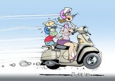Mamma Scooter- bimbi in moto