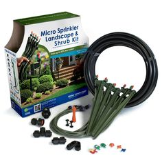 Micro-Sprinkler Landscape & Shrub Kit Micro-Sprinkler Landscape & Shrub Kit with 5 Green Stake Assemblies covering up to 250 sq. ft. (Each kit sold individually.) #MadeinUSA #MadeinAmerica #DIY #Garden #Landscaping This makes watering so much easier, saves money and time CLICK IMAGE TO BUY NOW $31.97