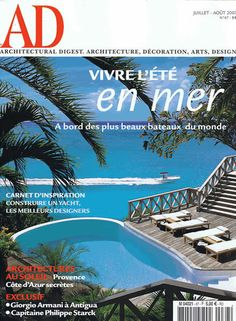 AD France #adfrance #architecturaldigest #architecture #design #pool #bach #sea