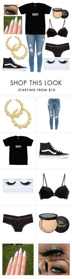 """Untitled #58"" by ayeitsnana ❤ liked on Polyvore featuring Thalia Sodi, Frame Denim, Vans, Gorgeous Cosmetics, Blush Lingerie, Victoria's Secret, Too Faced Cosmetics, women's clothing, women's fashion and women"