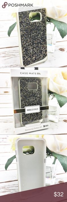 Casemate Brilliance Samsung Galaxy S6 / S7 Case New in box!  Stunning Casemate Brilliance Samsung Galaxy phone case with genuine crystals!  Dual layer protection with bumper to protect your phone from bumps!  Retails for $80.   Available in Samsung Galaxy S6 and S7 sizes. Casemate Accessories Phone Cases