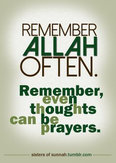 Remember Allah often