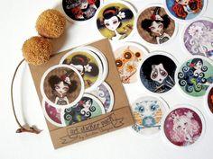 Art Sticker Pack Set 2  Set of 12 Stickers Labels by sandragrafik, $5.00