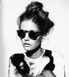 b/w, girl, modell, sunglases