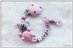 Strickparadies - Rose Prinzessin Schnullerkette mit Wunschnamen _0121