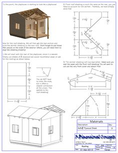Surprising Three Bedroom House Plans Wendy House : Uncategorized  Wooden Wendy House Plan Singular For Stunning Free