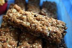 Anzac Muesli Slice - a great lunchbox option (good for breakfast too).  Yummy and healthy.