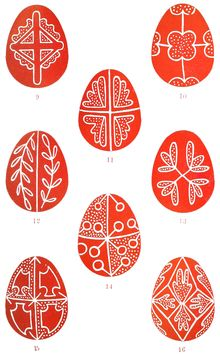 Plate Folk-Lore, vol. 20 - Folk-Lore/Volume Easter Eggs - Wikisource, the free online library Egg Crafts, Easter Crafts, Orthodox Easter, Pot Pourri, Easter Egg Pattern, Greek Easter, Easter Egg Designs, Ukrainian Easter Eggs, Egg Art