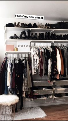 60 Ideas for closet organization ikea algot Ikea Algot, Ikea Shoe Storage, Ikea Closet Organizer, Storage Organization, Storage Ideas, Apartment Closet Organization, Ikea Bedroom Storage, Storage Trunk, Storage Cart