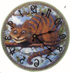 Alice in Wonderland Mad Hatter Backwards clock by blackbunny123