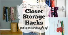 Solve all your closet storage problems with these fantastic hacks.