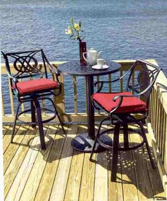 how cool sitting on bar height patio furniture lets you enjoy an uninterrupted view alexandria balcony set high quality patio furniture