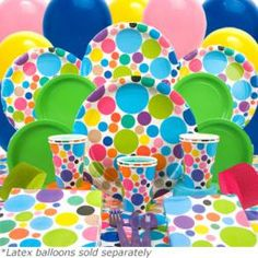 polka dot tableware