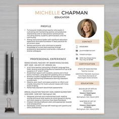 Teachers Resume Template Free Editable Teacher Resume Template  Tpt Free Lessons