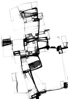 Zeichnung, 2009 - Hints for Women Architecture Memes, Architecture Concept Drawings, Architecture Graphics, Architecture Design, Black And White Illustration, Sketch Painting, Art Sketchbook, Collage Art, Art Sketches