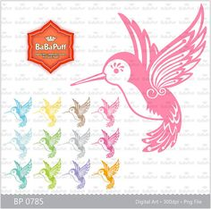 Baby Hummingbird Clip Art for Baby Shower, Wedding Invitation Cards Making, Personal and Small Commercial Use. BP 0785