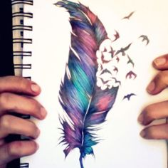 I would get this, cause of the colours. I'm obsessed with blue/pink/purple tattoos.