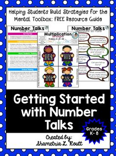 Number talks are an excellent way to get your students sharing ideas with each other about how to solve problems and to have them practice mental math. Number Talks Kindergarten, Teaching Numbers, Math Numbers, Teaching Math, Maths, Teaching Ideas, Creative Teaching, Teaching Resources, Teacher Blogs