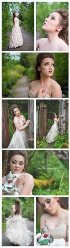 Belle - Beauty and the Beast   Stylized Senior Session by Kelly Mooney Photography   West Linn, Oregon   kelly@kellymooneyphotography.com