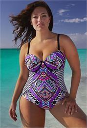 Plus Size The Mastermind Tiki Underwire Swimsuit