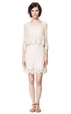 LACE DRESS - Dresses - Woman - ZARA Canada