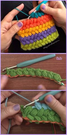 Crochet Braided Puff Stitch Free Pattern Tutorial