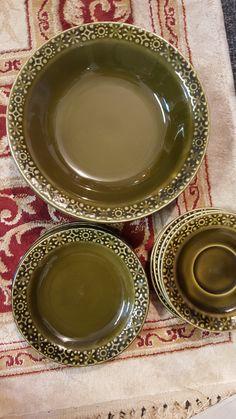 Eight Bread and Butter/ Dessert Plates - \u0027Celtic\u0027 Irish Earthenware - \u0027Connemara Erin Green\u0027 Pattern - 1970s - Discontinued - Collection by Vinta\u2026 & Eight Bread and Butter/ Dessert Plates - \u0027Celtic\u0027 Irish Earthenware ...
