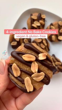 Healthy Food Swaps, Healthy Cookie Recipes, Healthy Cookies, Healthy Snacks, Healthy Life, Peanut Butter No Bake, Peanut Butter Cookie Recipe, Cake Mix Cookies, No Bake Cookies
