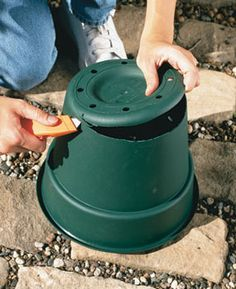 How to COLLAR AGGRESSIVE PLANTS. They spread to all corners of your garden before you know it. To keep them corralled, slice out the bottom of a plastic container with a utility knife.