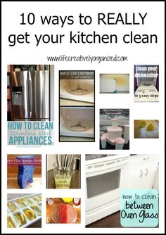10 ways to REALLY get your kitchen clean