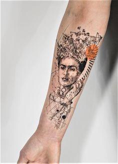 Frida Kahlo graphical Tattoo