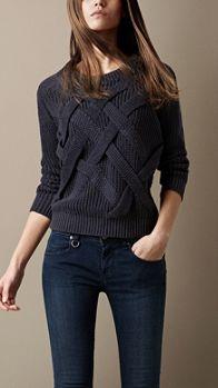 - Sweater Fashion - Women's Clothing Lattice Knit Check Sweater Knit Fashion, Look Fashion, Fashion 2016, Sweater Fashion, Fashion Women, Mode Outfits, Fashion Outfits, Casual Sweaters, Women's Sweaters