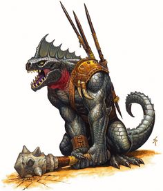 Fantasy - Reptile Soldier with Mace