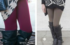 Solid Colored Fleece Leggings!-7 Colors! 65% off at Groopdealz