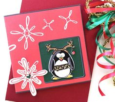Make a cute little Rudolph reindeer penguin mini card featuring an original art penguin designed by Jen Goode. You can mix and match cardstock colors to create your own personal look and choose from 10 different penguins available in the Cricut Design Space library.